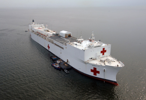 The U.S. Navy selected Carestream's medical image management system for use on its USNS Mercy hospital ship. (Photo: Business Wire)