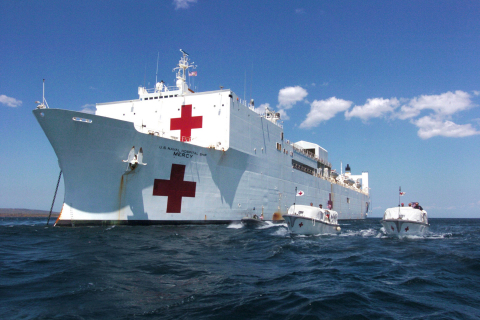The U.S. Navy selected Carestream's medical image management system for its 1,000-bed USNS Mercy hospital ship. The ship serves U.S. military forces deployed across the globe and also participates in humanitarian efforts. (Photo: Business Wire)