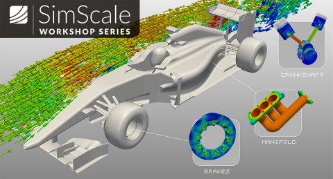 SimScale bietet eine kostenfreie Online-Workshopreihe zur Entwicklung und Optimierung von Formel-1-Fahrzeugen an. (Grafik: Business Wire)