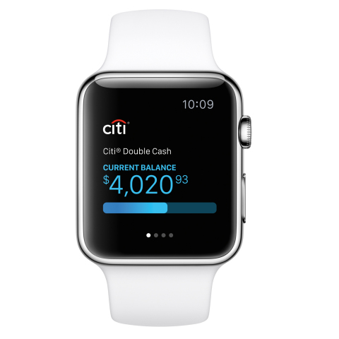 Citi Mobile Lite App on Apple Watch