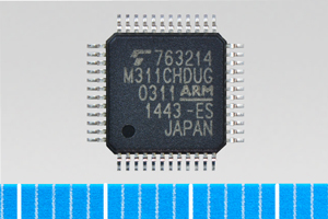 "Toshiba: ARM(R) Cortex(R)-M3-based microcontroller ""TMPM311CHDUG"" for smart meters. (Photo: Business ..."