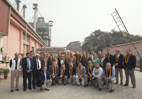 US professionals and students from University of Nebraska's LEAD program visiting India to tour Amira's plant to learn about the operational process at Amira (Photo: Business Wire)