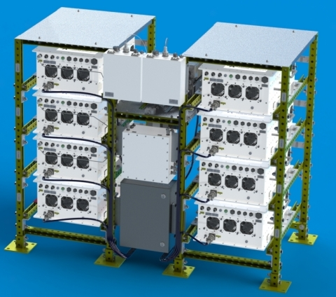 2.5 kW Ku-band SSPA System configured with (8) 400W Modules (Graphic: Business Wire)