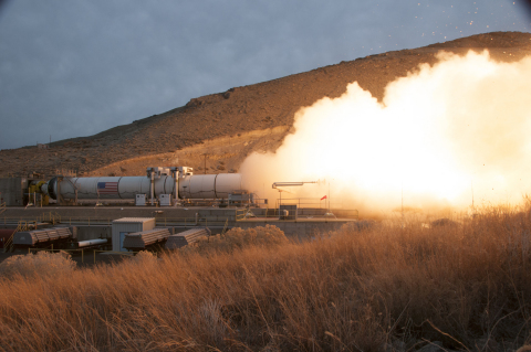 NASA's and Orbital ATK's successful test of Qualification Motor 1 (QM-1) is an important milestone in validating the rocket motor's use for NASA's heavy-lift Space Launch System. SLS is being designed to enable exciting new exploration missions throughout the solar system. (Photo: Business Wire)