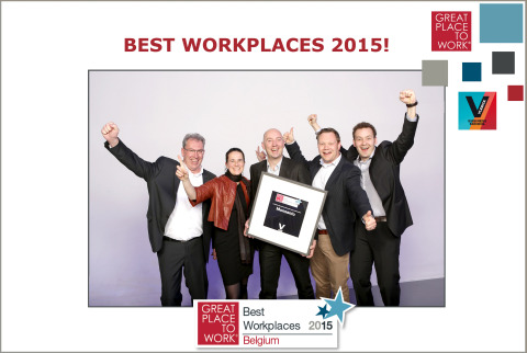 Monsanto Belgium team celebrates placing 6th in the 2015 Great Place to Work survey among the country's biggest employers. (Photo: Business Wire)
