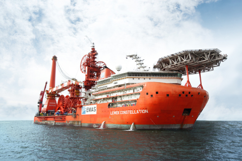 Caption: EMAS flagship construction vessel, the Lewek Constellation Photo Credit: Photo contributed by EMAS