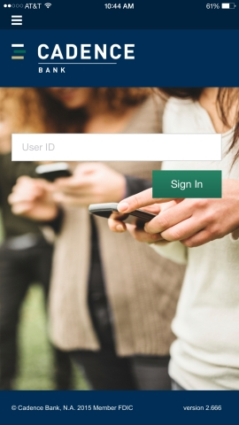 Fluent login screen for iOS, Android or other smartphone device (Graphic: Business Wire)