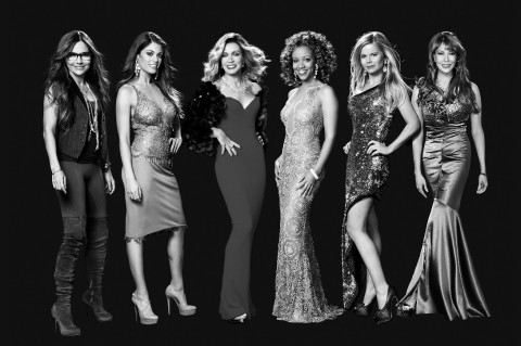 """Vanessa Marcil, Lindsay Hartley, Donna Mills, Chrystee Pharris, Crystal Hunt and Hunter Tylo of """"Queen's of Drama,"""" set to premiere on Pop on Sunday, April 26, at 10:00 PM ET/7:00 PM PT (Photo: Business Wire)"""