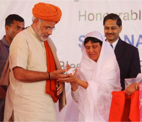 Modi at inauguration of Veerayatan Institute of Pharmacy. (Photo: Business Wire)