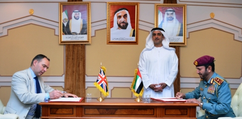 Saif bin Zayed Attends MoU Signing between MoI and British Counterpart on Child Protection from Online Abuse (Photo: Business Wire)