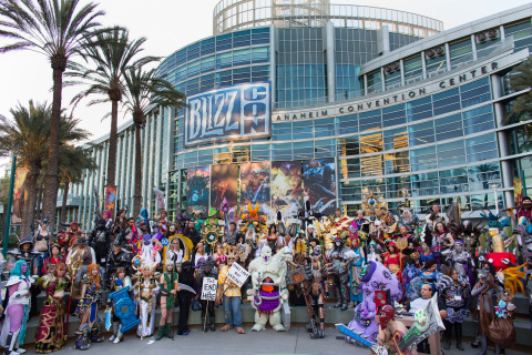BlizzCon attendees in costumes based on their favorite Blizzard game characters. (Photo: Business Wire)
