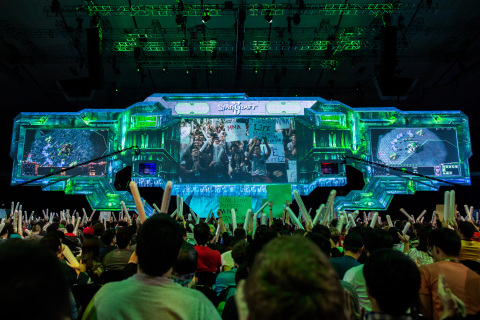 In addition to serving as a gathering place for the Blizzard gaming community, BlizzCon also hosts the global finals for Blizzard eSports, including the StarCraft II World Championship Series. (Photo: Business Wire)