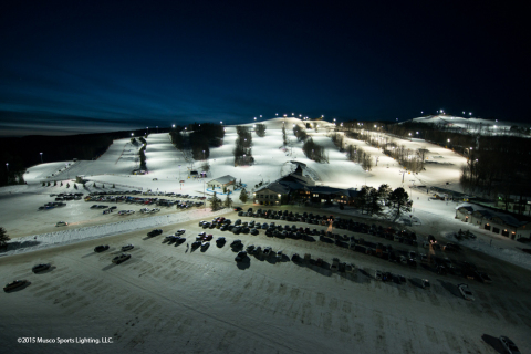 Musco's LED lighting solution provides skiers and snowboarders a world-class experience at Mount St. Louis Moonstone Ski Resort (Photo: Musco Sports Lighting)