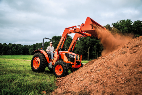 Kubota's new M5660SU utility tractor is built with the power to tackle a wide range of jobs while bringing new and enhanced features to the task. (Photo: Business Wire)