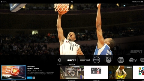 Sling TV interface on Xbox One (Photo: Business Wire)