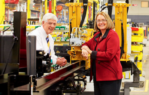 Wells Fargo Commercial Banking Relationship Manager Mark Conway and Mary Andringa, Vermeer Corporati ...