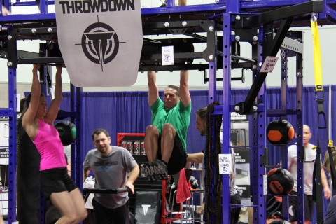 Derek Gallup, SVP of Fitness and Retail of New Evolution Ventures, and others during the Throwdown UTC-K2 program workout (Photo: Business Wire)