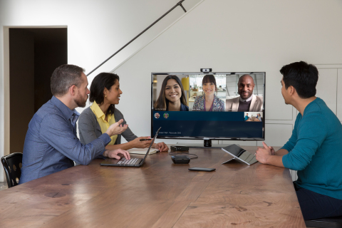 Polycom® RoundTable® 100, an affordable and easy-to-use video solution for huddle rooms, will allow SMBs and teams with Microsoft Skype for Business and Microsoft Lync 2013 to enjoy rich collaboration experiences. (Photo: Business Wire)