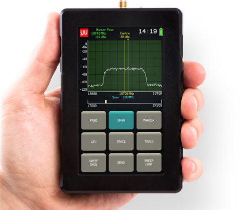 World's Smallest Microwave Spectrum Analyzer (2-40GHz)(Photo: Business Wire)