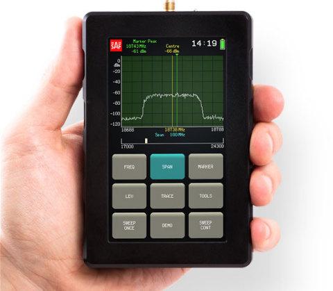 World's Smallest Microwave Spectrum Analyzer (2-40GHz)(Photo: Business Wire)