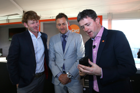 PGA Tour golfers, Brandt Snedeker (L) and Ian Poulter team up with MasterCard at Arnold Palmer Invitational to see the latest and greatest in payment technology at Bay Hill in Orlando, Florida. (Photo: Alex Menendez/Getty Images)