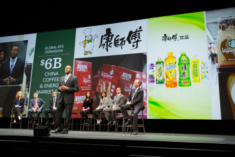 Michael Conway, president of Starbucks Global Channel Development, announced today that Starbucks and Tingyi Holding Corp. have entered into an agreement to manufacture and expand the distribution of ready-to-drink products throughout mainland China. (Photo: Business Wire)