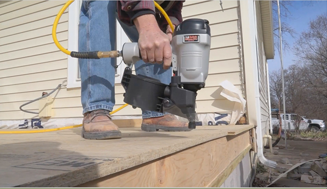 Watch how quickly subfloor is installed using Ballistic NailScrews® which are collated screws you install with a pneumatic nailer. With IBC and IRC code approvals, they are perfect for contractors and builders.
