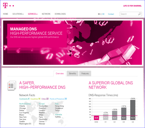 Le nouveau site Internet d'ICSS dédié à ses services de mise à disposition de contenu (Photo : Business Wire)