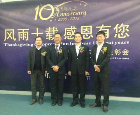 Axalta Huajia representatives with GM of Press Metal (Left to right: Press Metal International Gener ...