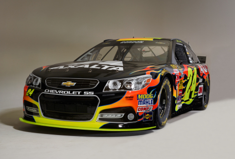 Brilliant Flames paint scheme on the No. 24 Axalta Chevrolet SS (Photo: Business Wire)