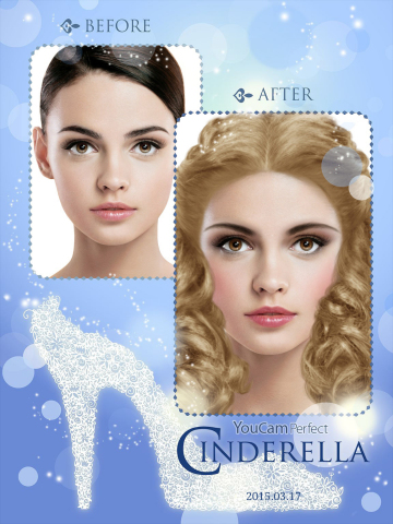 YouCam Makeup Now Includes Cinderella-inspired Makeup Looks and Contest (Graphic: Business Wire)