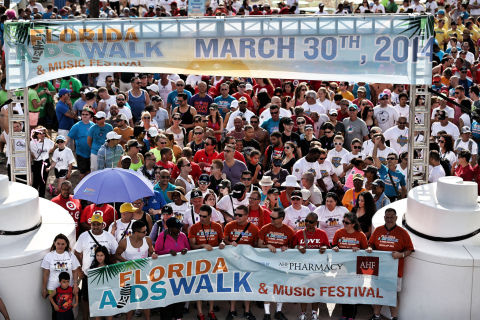 Florida AIDS Walk, which celebrates its 10th anniversary on March 22, 2015, draws thousands of participants and raises funds to benefit South Florida HIV/AIDS service providers. (Photo: Business Wire)