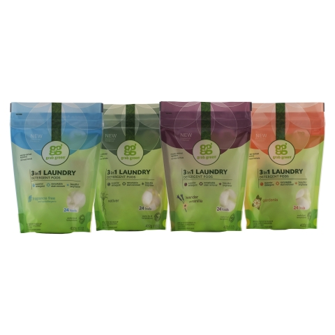 Grab Green offers NEW pouch packaging (Photo: Business Wire)