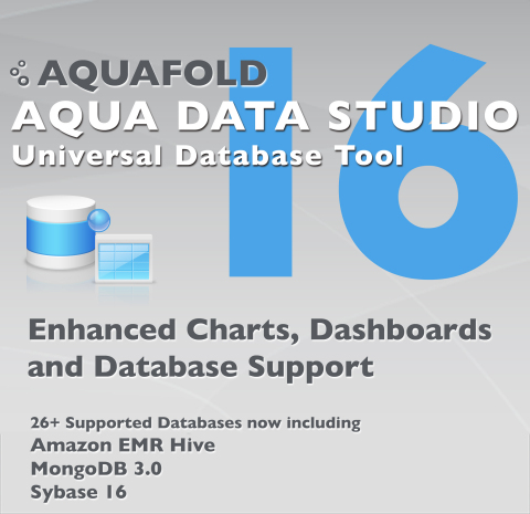 Aqua Data Studio v16 (Graphic: Business Wire)