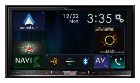 Pioneer AVIC-8100NEX - Android Auto and CarPlay Compatible In-Dash Multimedia Receiver (Photo: Business Wire)