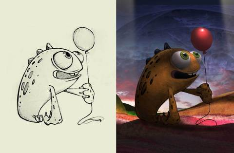 Character sketches submitted for the film. (Graphic: Business Wire)