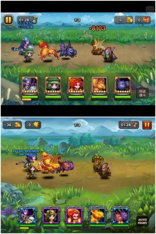 UI of Soul Clash vs. UI of Heroes Charge (Photo: Business Wire)