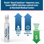 Nozin® Nasal Sanitizer® improves care, lowers MRSA infection control costs at Marshall Medical Center (Graphic: Business Wire)
