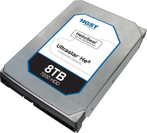 HGST Ultrastar He8 - Helium filled HDD, 8TB (Photo: Business Wire)