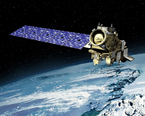 Artist rendering of NOAA's JPSS-2 spacecraft in orbit. Orbital ATK was awarded a $470 million contra ...