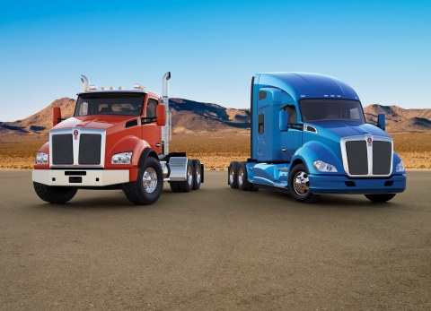 Kenworth now offers the ultracapacitor-based Engine Start Module (ESM) as a factory-installed option for new Kenworth T680s and T880s. The engine start module provides dedicated power to start the truck. That frees the truck's standard batteries to focus on powering accessory devices such as a laptop, microwave, refrigerator and television electronics in addition to the truck's electronics and lights. The ESM is designed to start an engine in temperatures as low as minus 40 degrees Fahrenheit to a high of 149 degrees Fahrenheit, even when the batteries have low voltage. The ESM is among several advanced technology components introduced at the 2015 Mid-America Trucking Show in Louisville, Ky. (Photo: Business Wire)