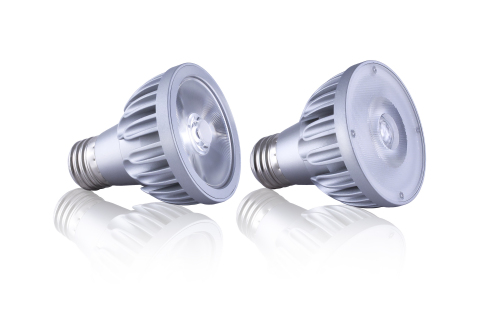 Ideal for both commercial and residential applications, Soraa's PAR20 LED lamp provides unmatched color quality and superior optics while still delivering 85% energy-efficiency over standard halogen lamps. (Photo: Business Wire)