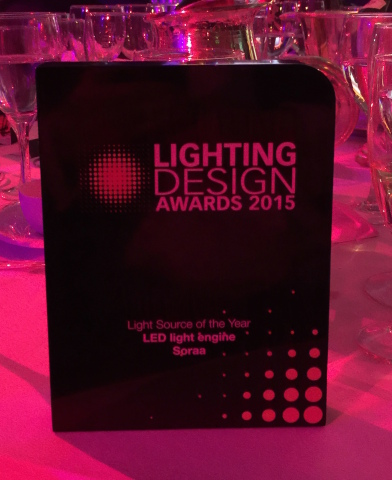 Soraa´s LED Optical Light Engine was named Light Source of the Year at the prestigious Lighting Desi ...