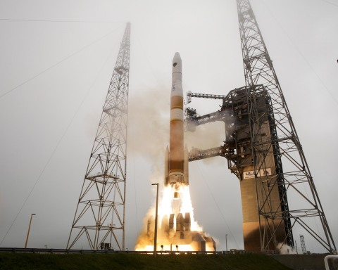 Orbital ATK's contributions to the Delta IV and GPS IIF that launched March 26 include cutting-edge technologies from across the company. Photo courtesy of ULA.