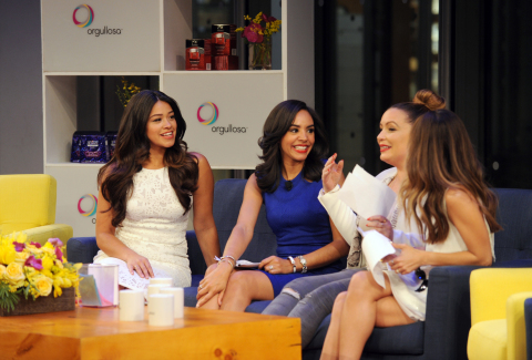 """Golden Globe winning Actress Gina Rodriguez, Entertainment Weekly Correspondent Nina Terrero, Radio Personality Angie Martinez and Style Expert and TV Personality, Lilliana Vazquez, from left to right, attend P&G Orgullosa's forum """"Nueva Latinas Living Fabulosa"""" at The TimesCenter on Wednesday, March 25 in New York. The all-star lineup of speakers shared their passion and stories of rich history, blended cultures and aspirations. Visit Facebook.com/Orgullosa for more information. (Photo by Diane Bondareff/Invision for P&G Orgullosa/AP Images)"""