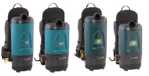 The Tennant V-BP-6/V-BP-10 and Nobles Aspen(TM)-6/Aspen(TM)-10 Suite of Backpack Vacuums (Photo: Bus ...
