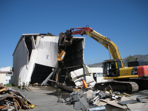IKEA, the world's leading home furnishings retailer, today began demolishing 19 buildings totaling 455,000 square-feet on the site where it will construct a new, larger store in Burbank, CA, less than one mile away from the company's oldest store in the Western United States. (Photo: Business Wire)