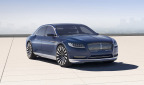 With a sleek silhouette and a new centered chrome grille, the Continental Concept signals the arrival of a new face for Lincoln. (Photo: Business Wire)