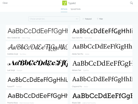 Fonts at your fingertips: Comp CC allows users to visualize their design concept by easily laying out text frames on an iPad. Integration with Typekit enables users to place professional desktop fonts in layouts. (Graphic: Business Wire)