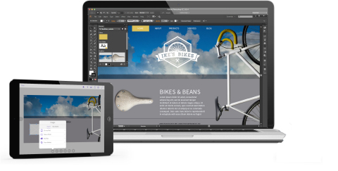 Finish on your desktop: Layouts started in Comp CC can then be taken into Adobe's desktop tools for further manipulation, including InDesign CC, Illustrator CC and Photoshop CC. (Graphic: Business Wire)